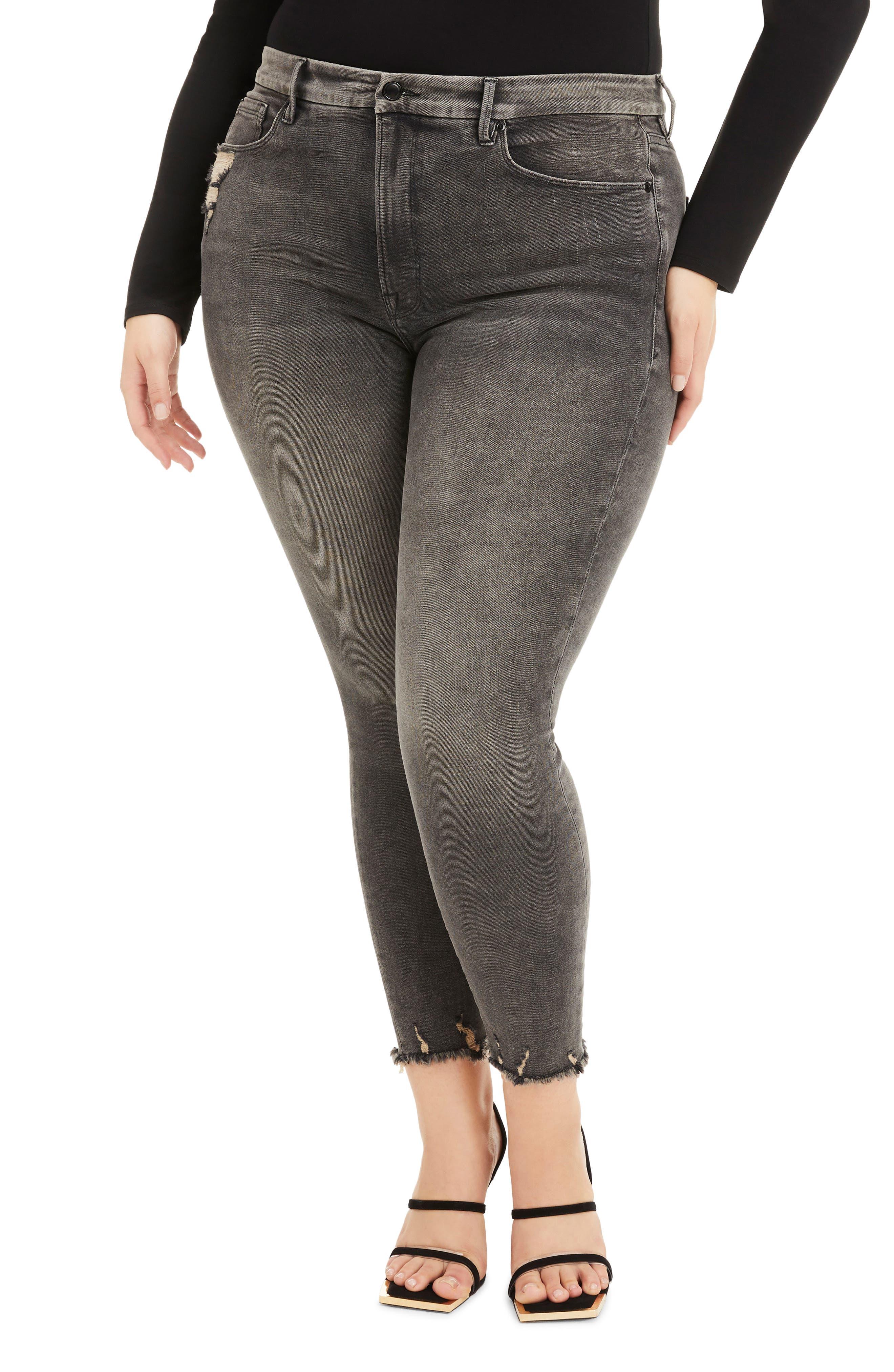 Plus Women's Good American Good Legs High Waist Crop Skinny Jeans
