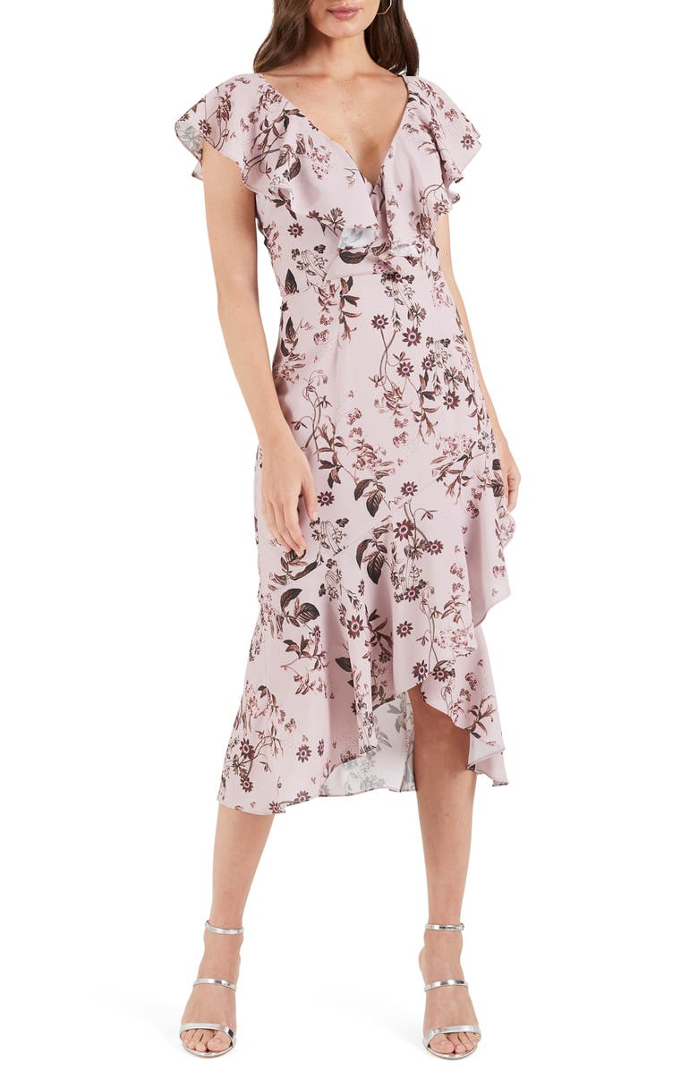COOPER ST Isla Floral Ruffle High/Low Dress, Main, color, PRINT LIGHT