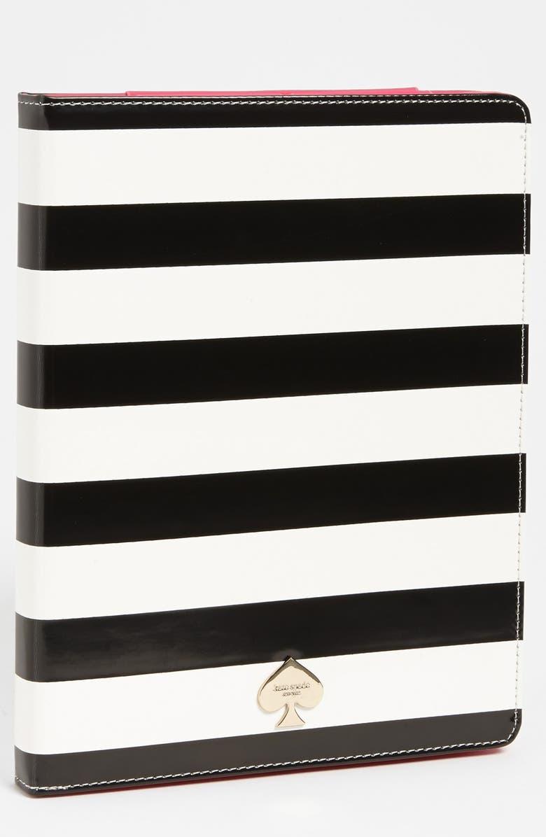 KATE SPADE NEW YORK 'petula stripe' iPad 2 & 3 folio, Main, color, 001