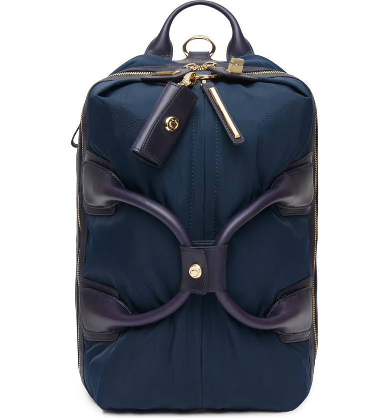 CARAA Studio Medium Duffel Backpack, Main, color, NAVY