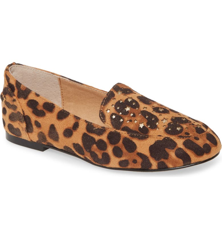 TREASURE & BOND Soft Star Moccasin, Main, color, LEOPARD FAUX SUEDE