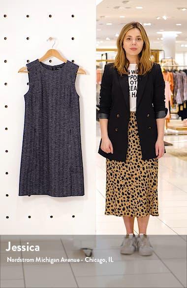 Vent Front Wool & Cotton Blend Shift Dress, sales video thumbnail