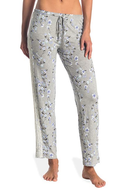 Image of Vince Camuto Gabriela Lace Trim Stretch Pajama Pants