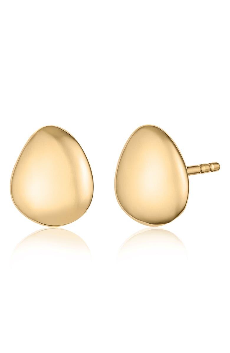 MONICA VINADER Nura Small Pebble Stud Earrings, Main, color, YELLOW GOLD