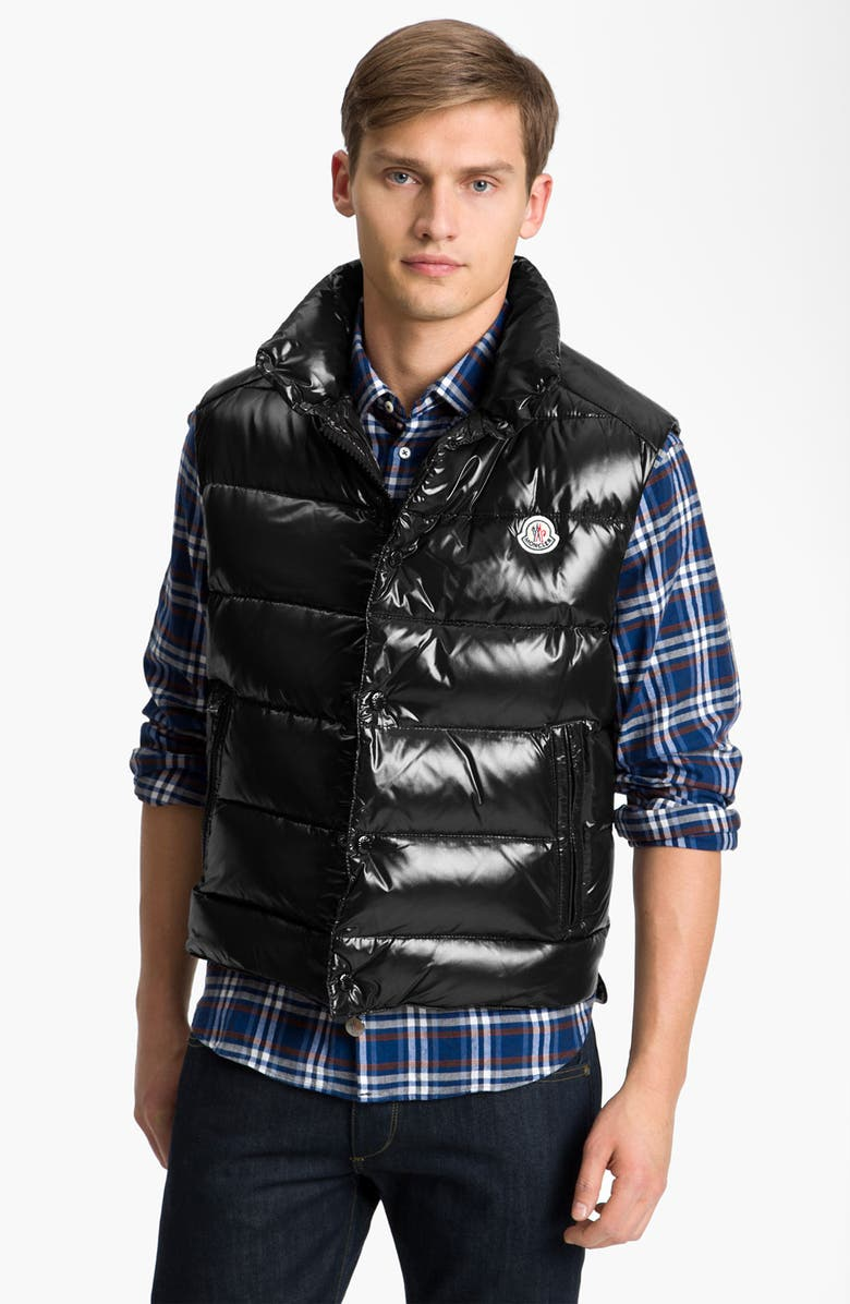 MONCLER 'Tib' Quilted Down Vest, Main, color, 001