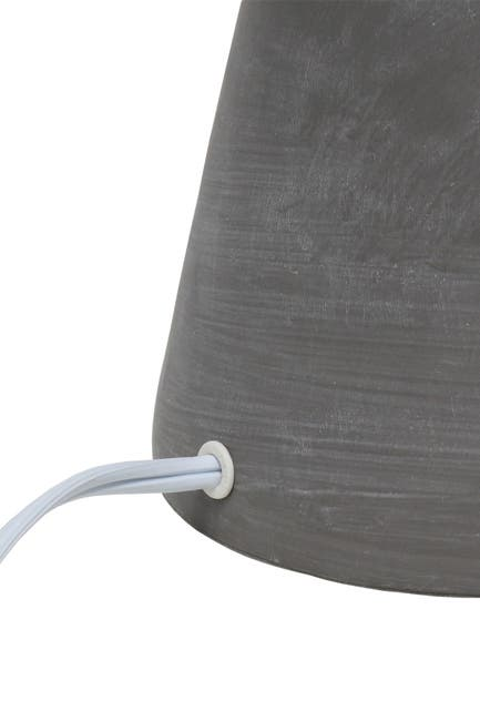 Image of LALIA HOME Simple Designs Pinnacle Concrete Table Lamp - Gray