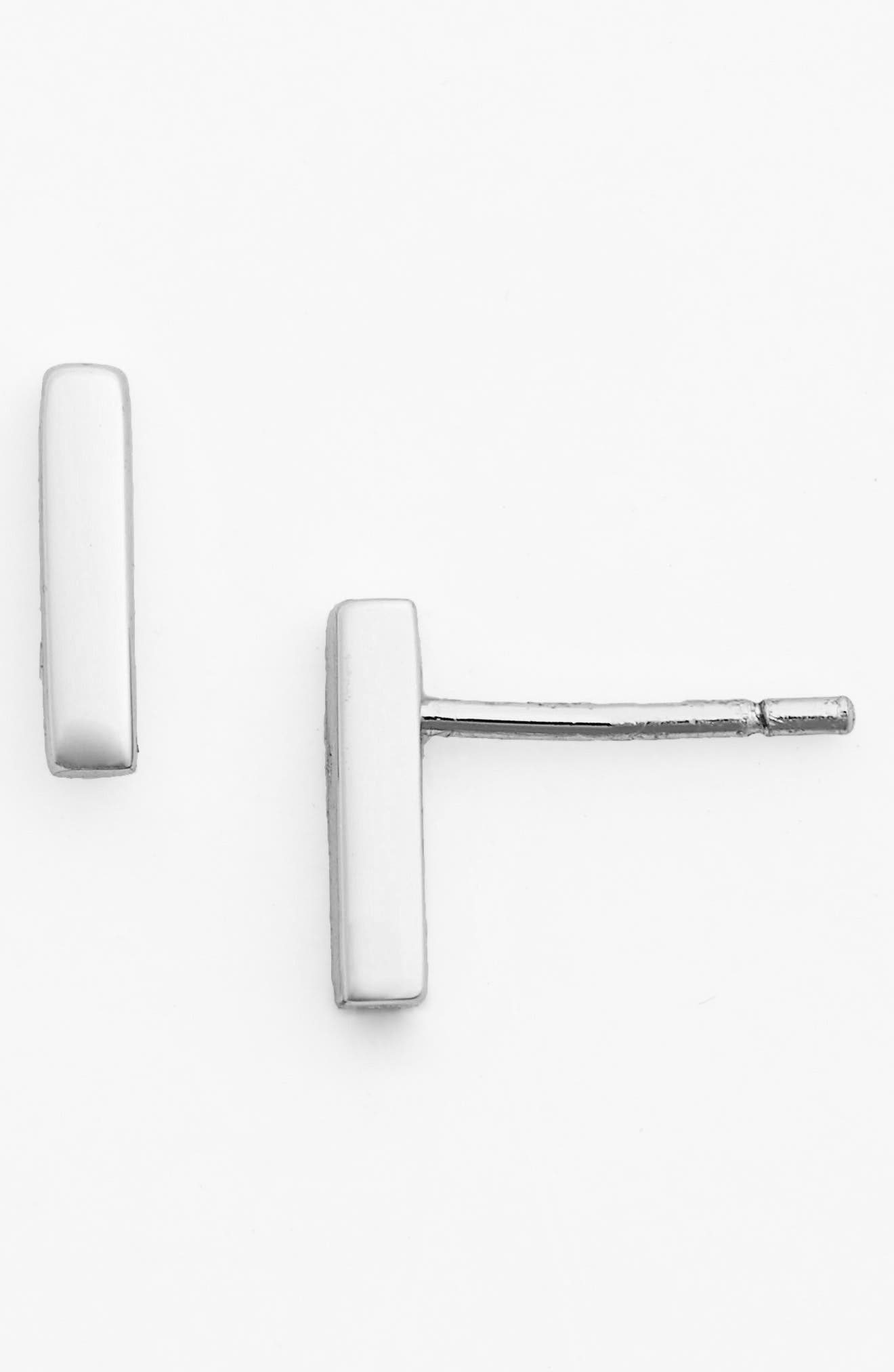 Women's Argento Vivo Bar Stud Earrings