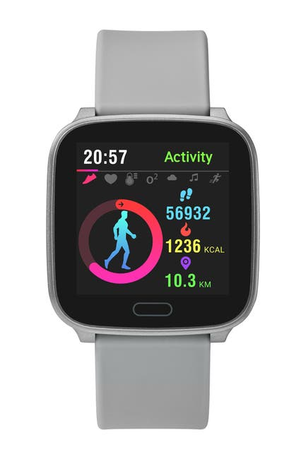 Image of TIMEX Unisex Grey iConnect Resin Strap Smartwatch, 37mm