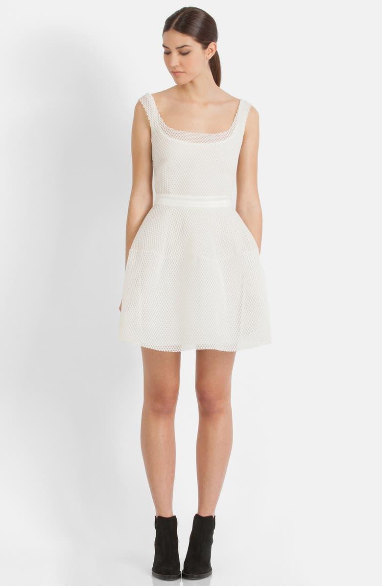 magasiner pour le meilleur plus tard nouveau sélection 'Robe Matiere Basket' Mesh Fit & Flare Dress