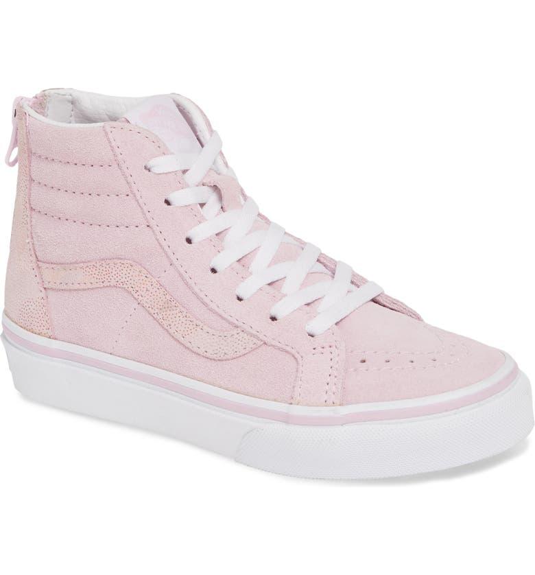 VANS Sk8-Hi Zip Sneaker, Main, color, LILAC SNOW/ AZALEA PINK