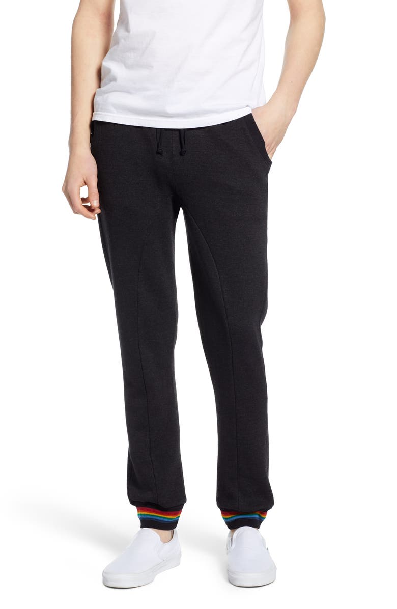 AVIATOR NATION Prism Slim Fit Sweatpants, Main, color, BLACK