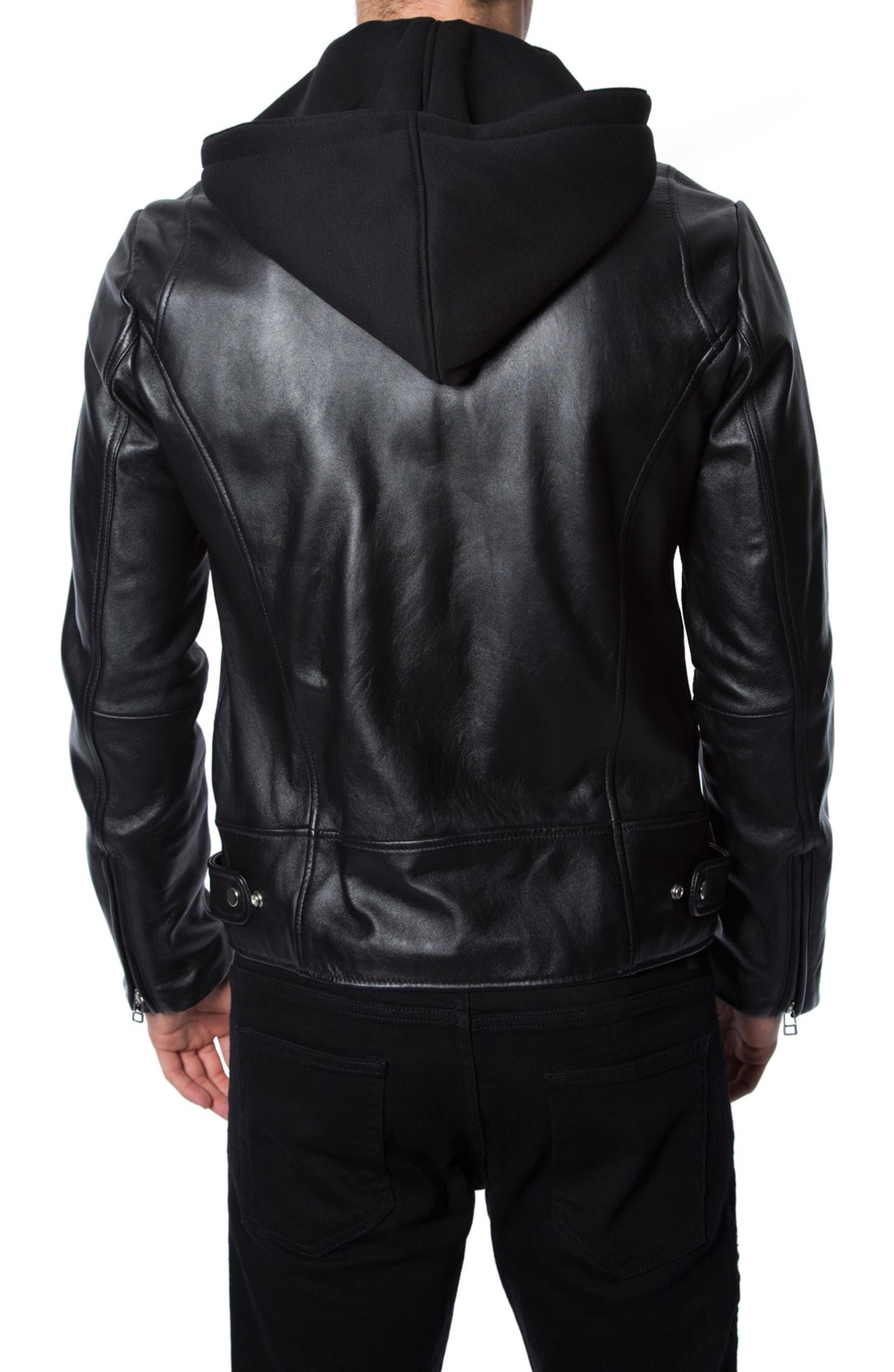 cb3d32325 7 Diamonds 'Thunderbird' Leather Moto Jacket with Removable Knit ...