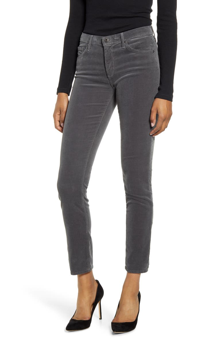 AG Prima Ankle Skinny Corduroy Pants, Main, color, NIGHT SHADE