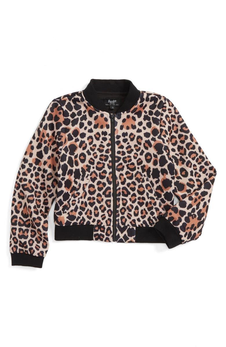 320a0445f Bardot Junior Leopard Print Bomber Jacket (Toddler Girls, Little ...