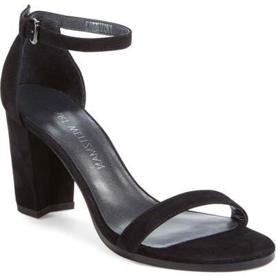Stuart Weitzman Nearlynude Ankle Strap Sandal- Black