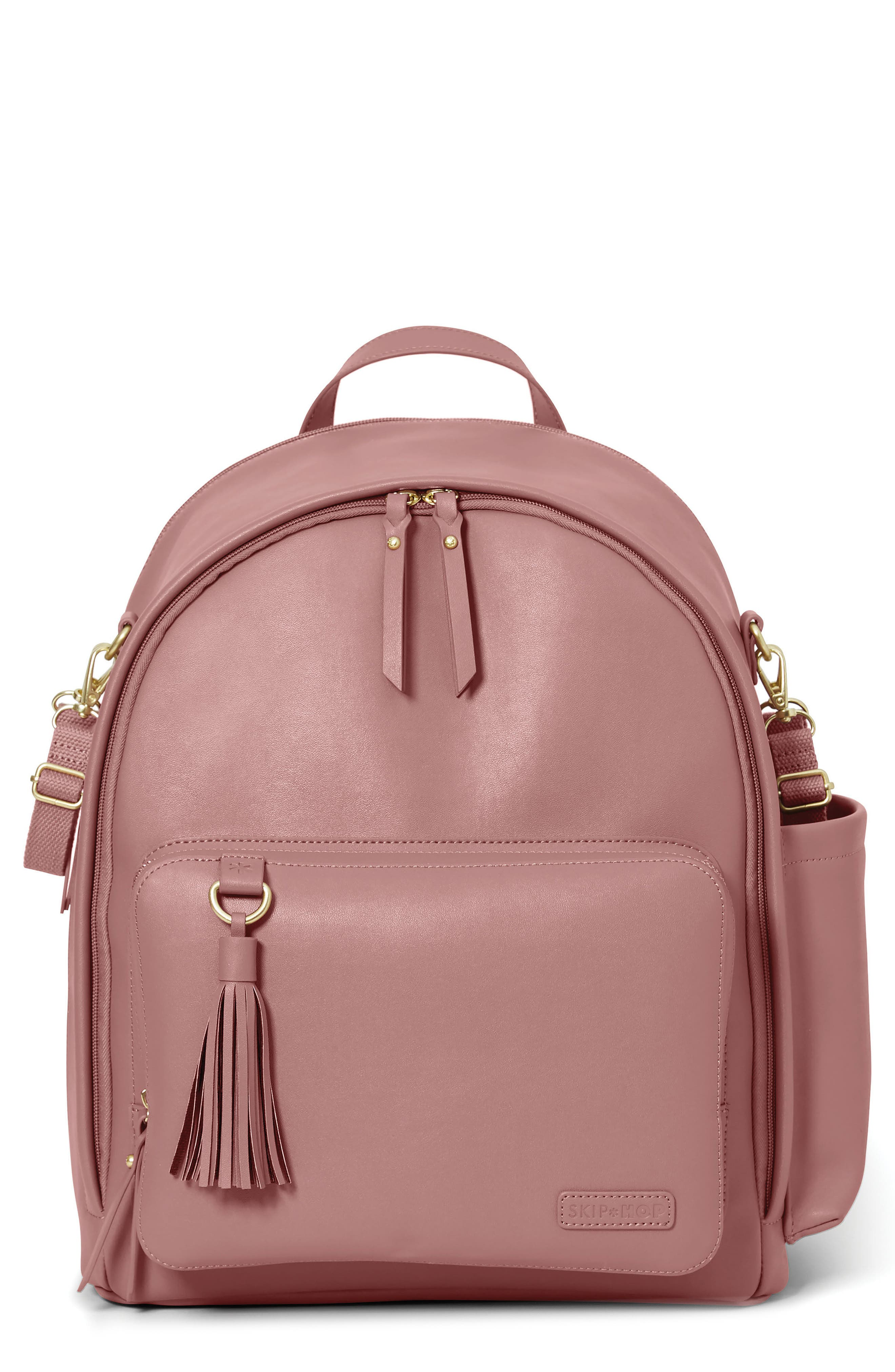 Greenwich Simply Chic Diaper Backpack, Main, color, DUSTY ROSE