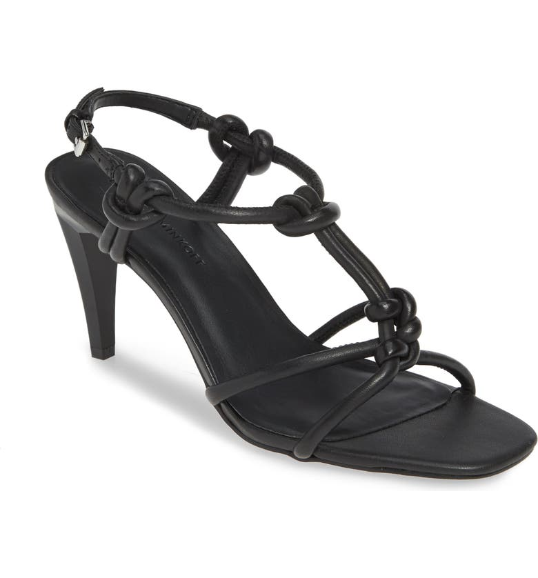 REBECCA MINKOFF Laciann Sandal, Main, color, BLACK LEATHER