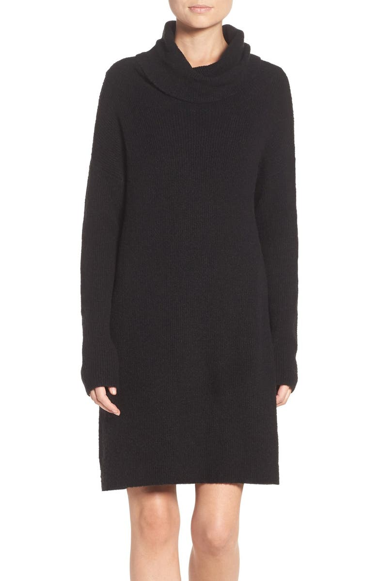 BB DAKOTA 'Collins' Ribbed Sweater Dress, Main, color, 001