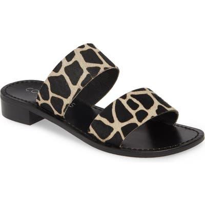 Coconuts By Matisse Limelight Genuine Calf Hair Slide Sandal, Black