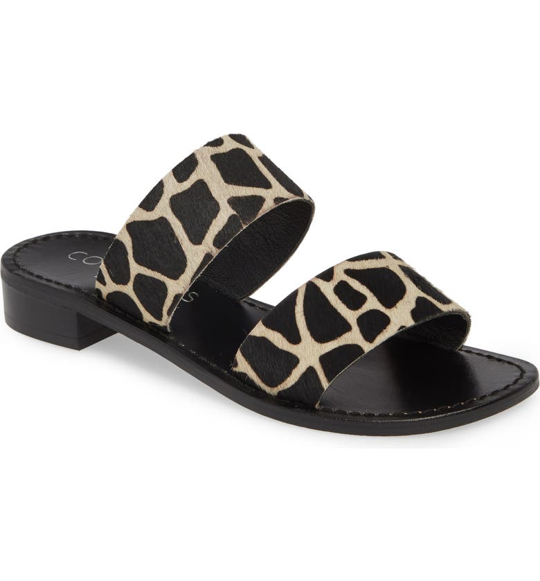 COCONUTS BY MATISSE Limelight Genuine Calf Hair Slide Sandal, Main, color, GIRAFFE CALF HAIR