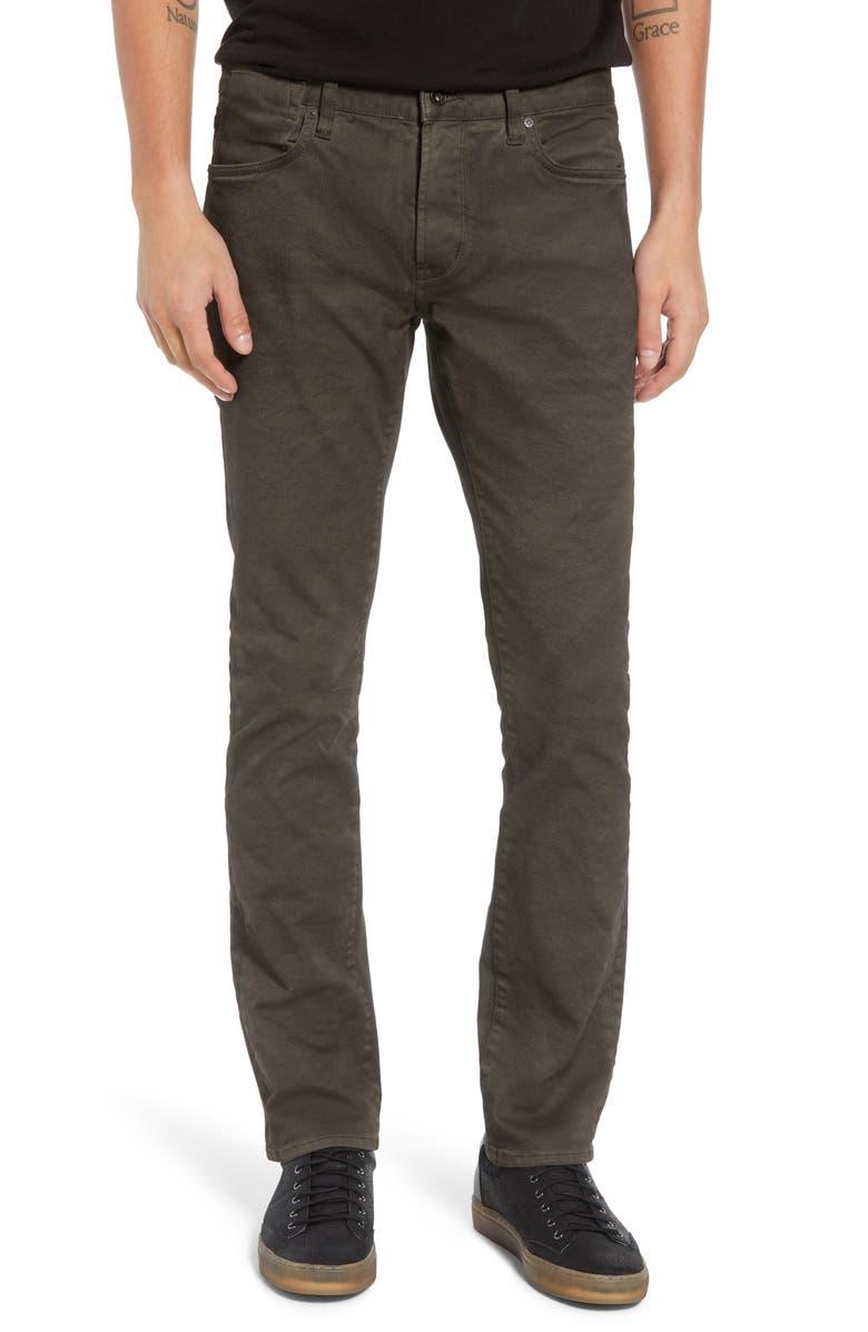 JOHN VARVATOS STAR USA Bowery Skinny Fit Jeans, Main, color, SOIL