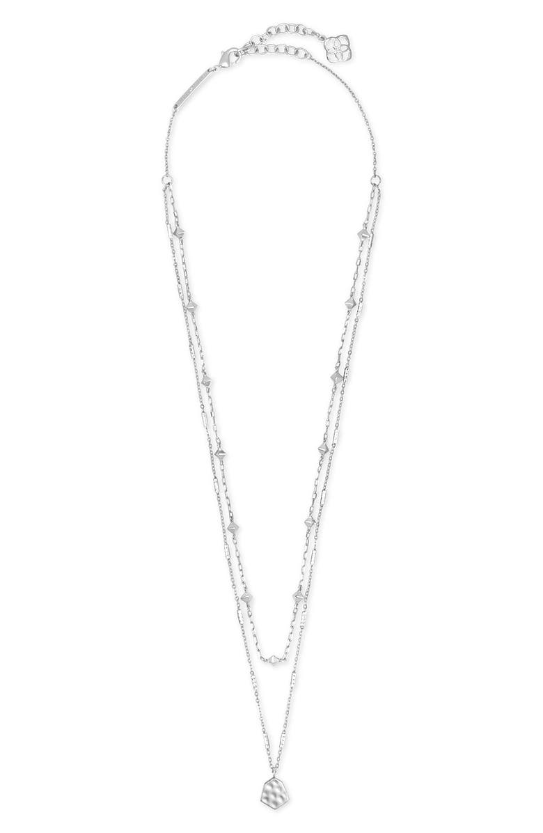 KENDRA SCOTT Clove Multistrand Necklace, Main, color, SILVER