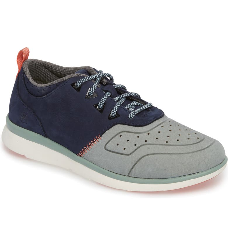 SUPERFEET Beech Sneaker, Main, color, BLUE LEATHER