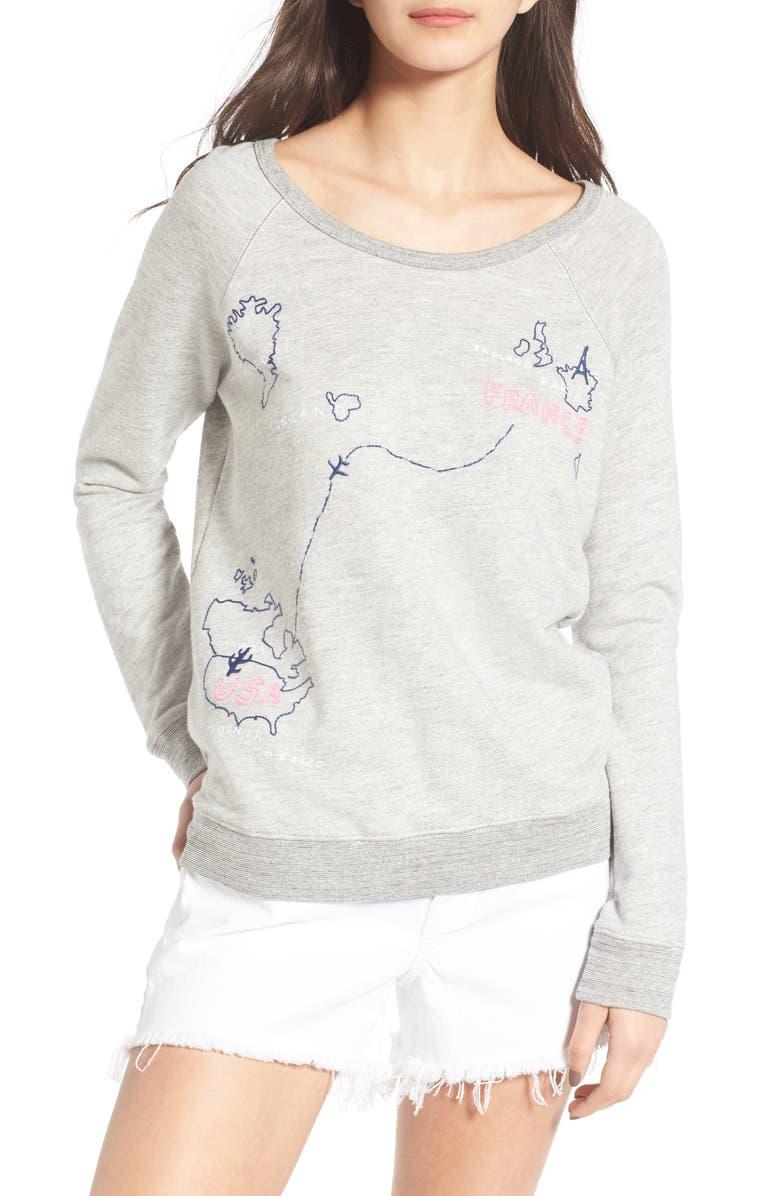 SUNDRY France to USA Sweatshirt, Main, color, 039