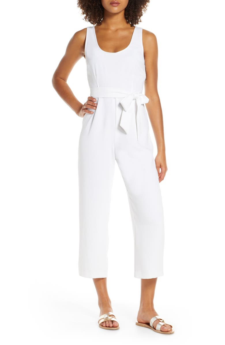 BB DAKOTA Crop Jumpsuit, Main, color, IVORY