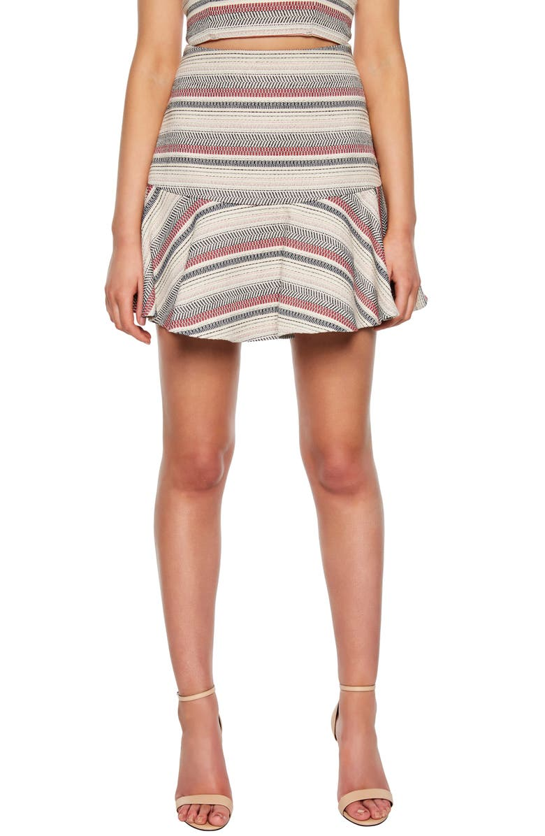 BARDOT Stripe Skirt, Main, color, MULTI STRIPE