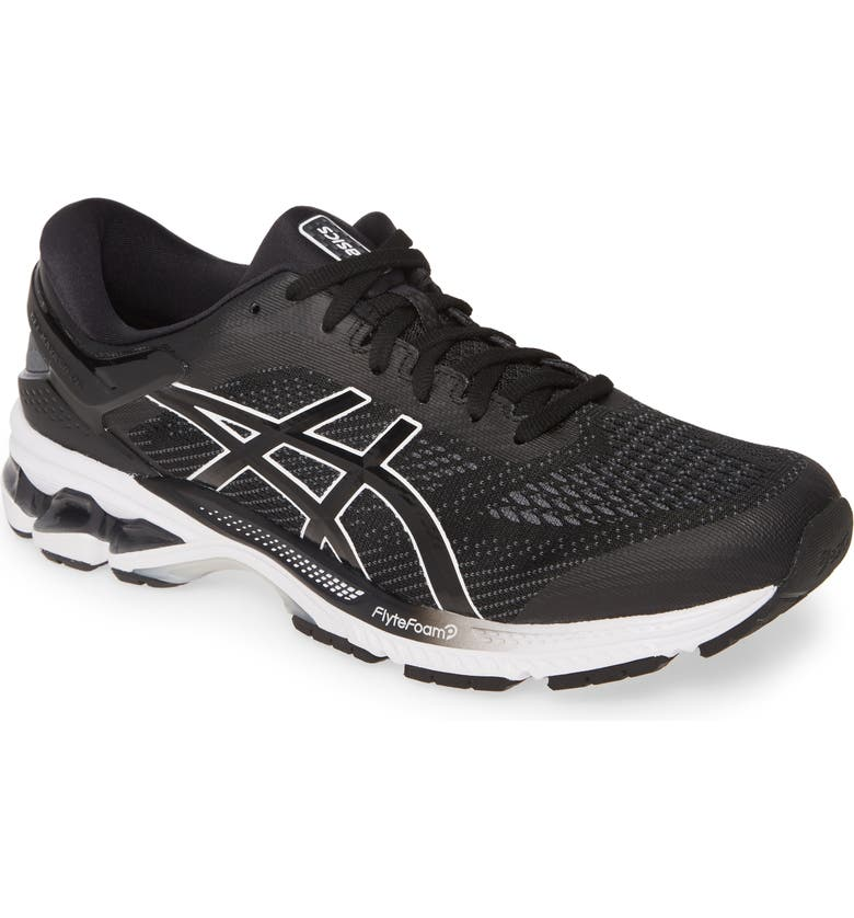 ASICS<SUP>®</SUP> GEL-Kayano<sup>®</sup> 26 Running Shoe, Main, color, BLACK/ WHITE