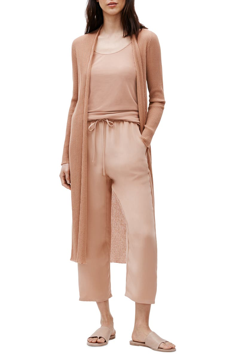 EILEEN FISHER Organic Cotton Blend Long Cardigan, Main, color, 813