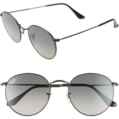 Ray-Ban 5m Round Retro Sunglasses - Black/ Black Gradient
