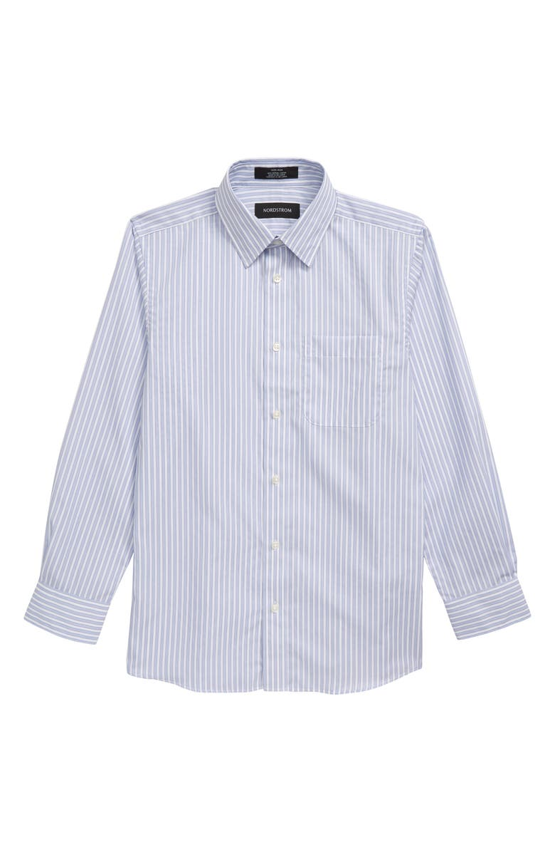 NORDSTROM Stripe Dress Shirt, Main, color, WHITE- BLUE STRIPE