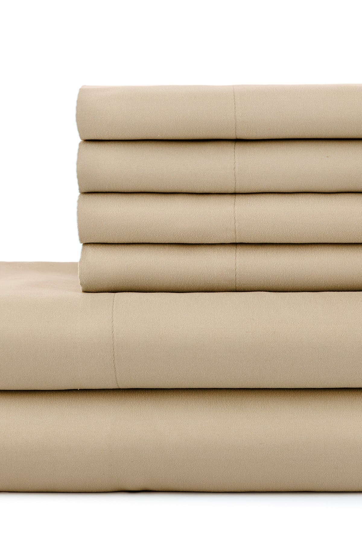 Image of SOUTHSHORE FINE LINENS Full   Sized Southshore Essentials Double Brushed 100 GSM Sheet Set - Warm Sand