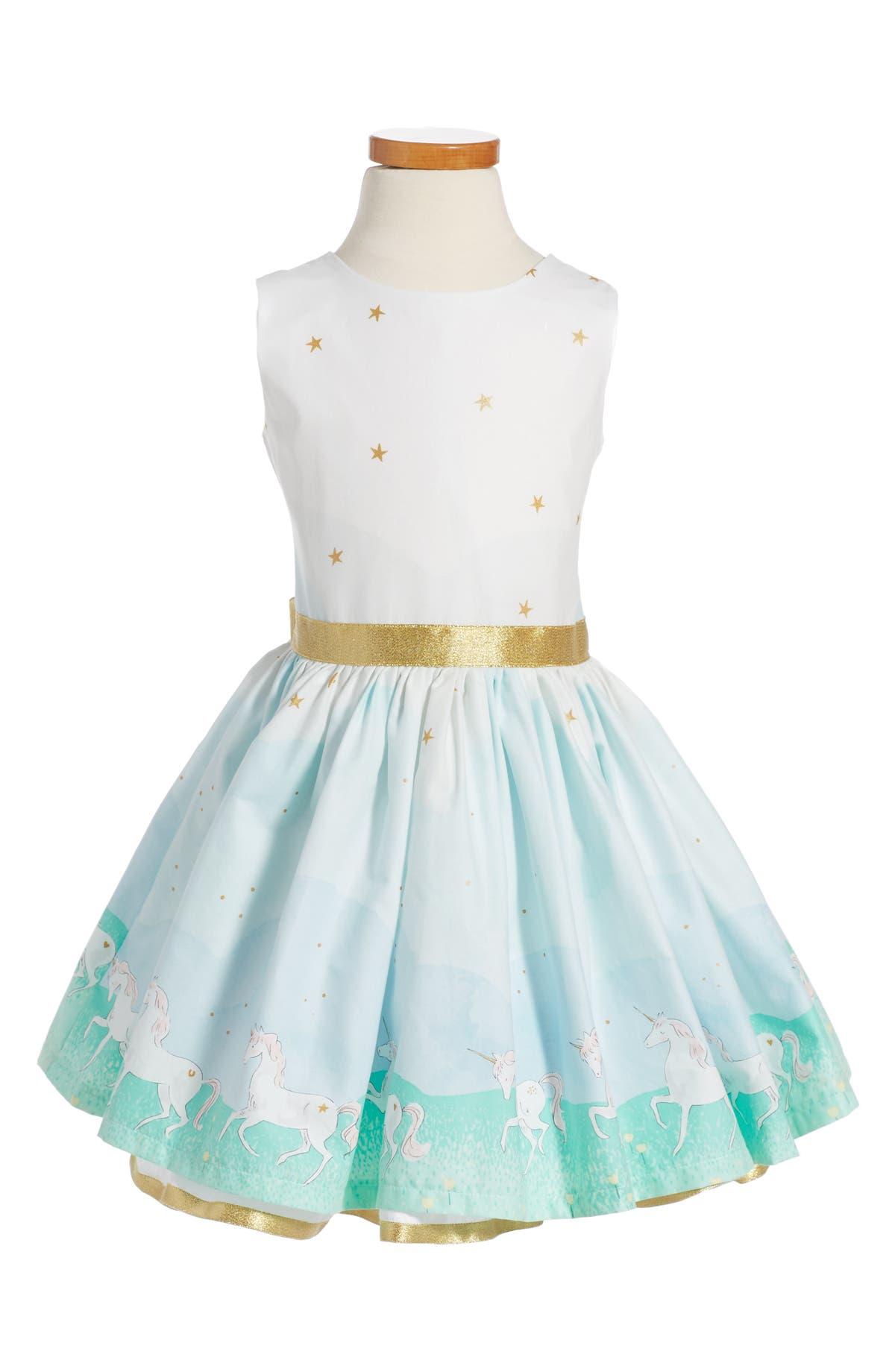 bb47b15569d9 Fiveloaves Twofish Unicorn Magic Party Dress (Toddler Girls, Little Girls &  Big Girls) | Nordstrom
