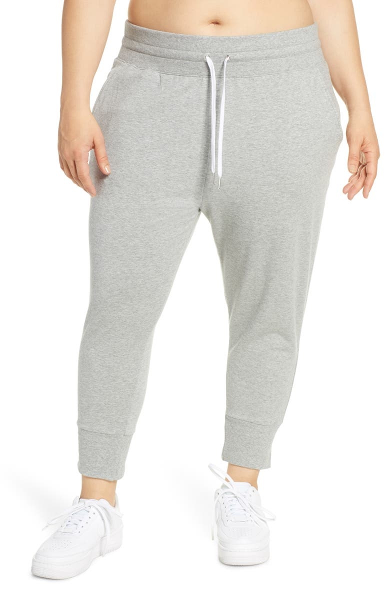 ZELLA Cropped Jogger Pants, Main, color, GREY QUIET HEATHER