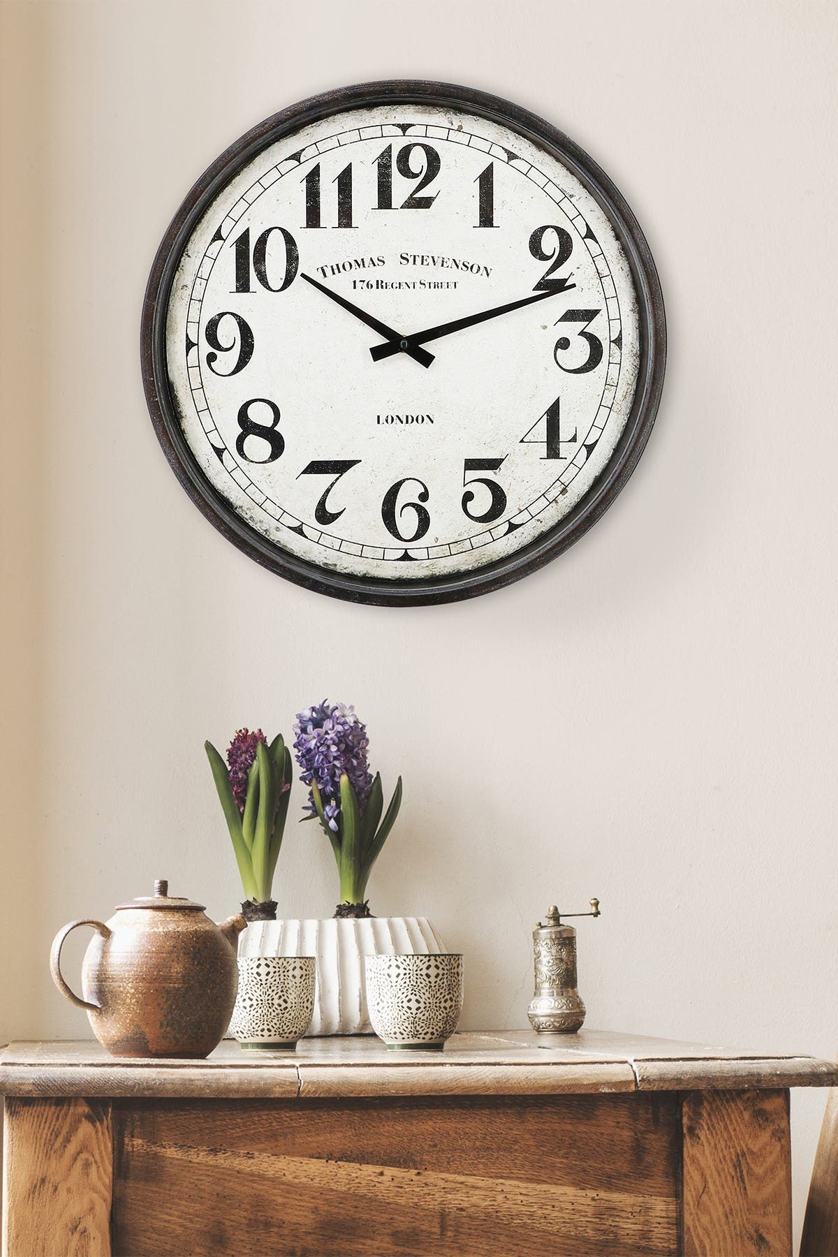 Image of WalPlus Vintage Metal Wall Clock