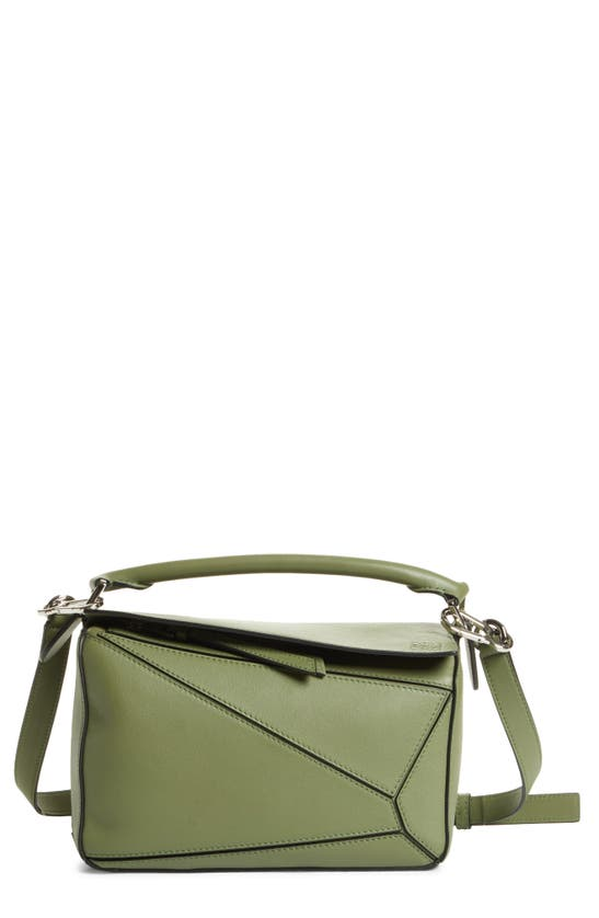 Loewe Puzzle Small Shoulder Bag In Avocado Green