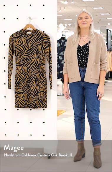 Zebra Long Sleeve Body-Con Minidress, sales video thumbnail