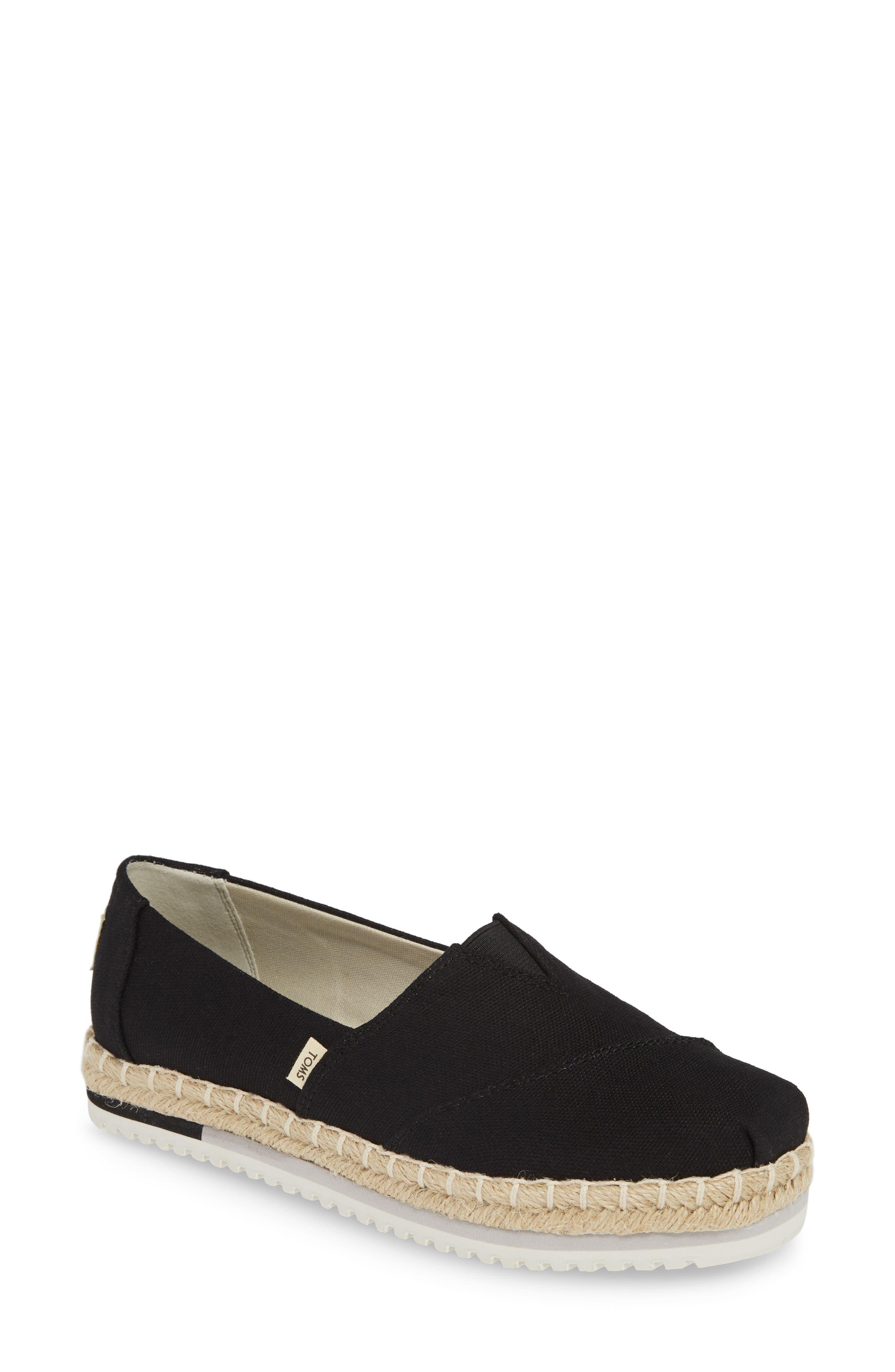 Toms Alpargata Platform Sneaker, Black