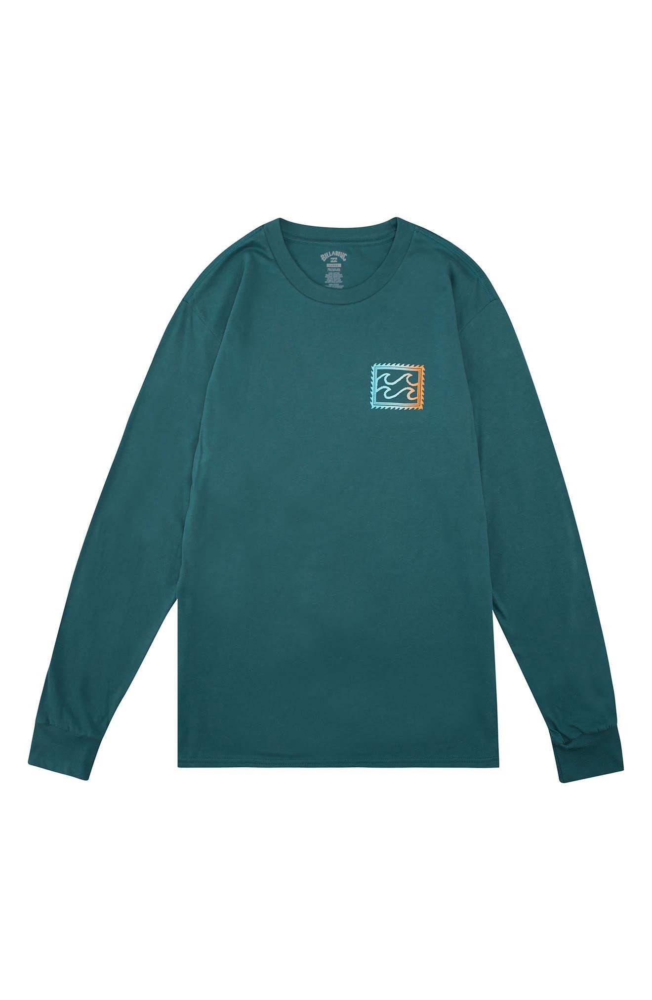 Men's Crayon Wave Long Sleeve T-Shirt