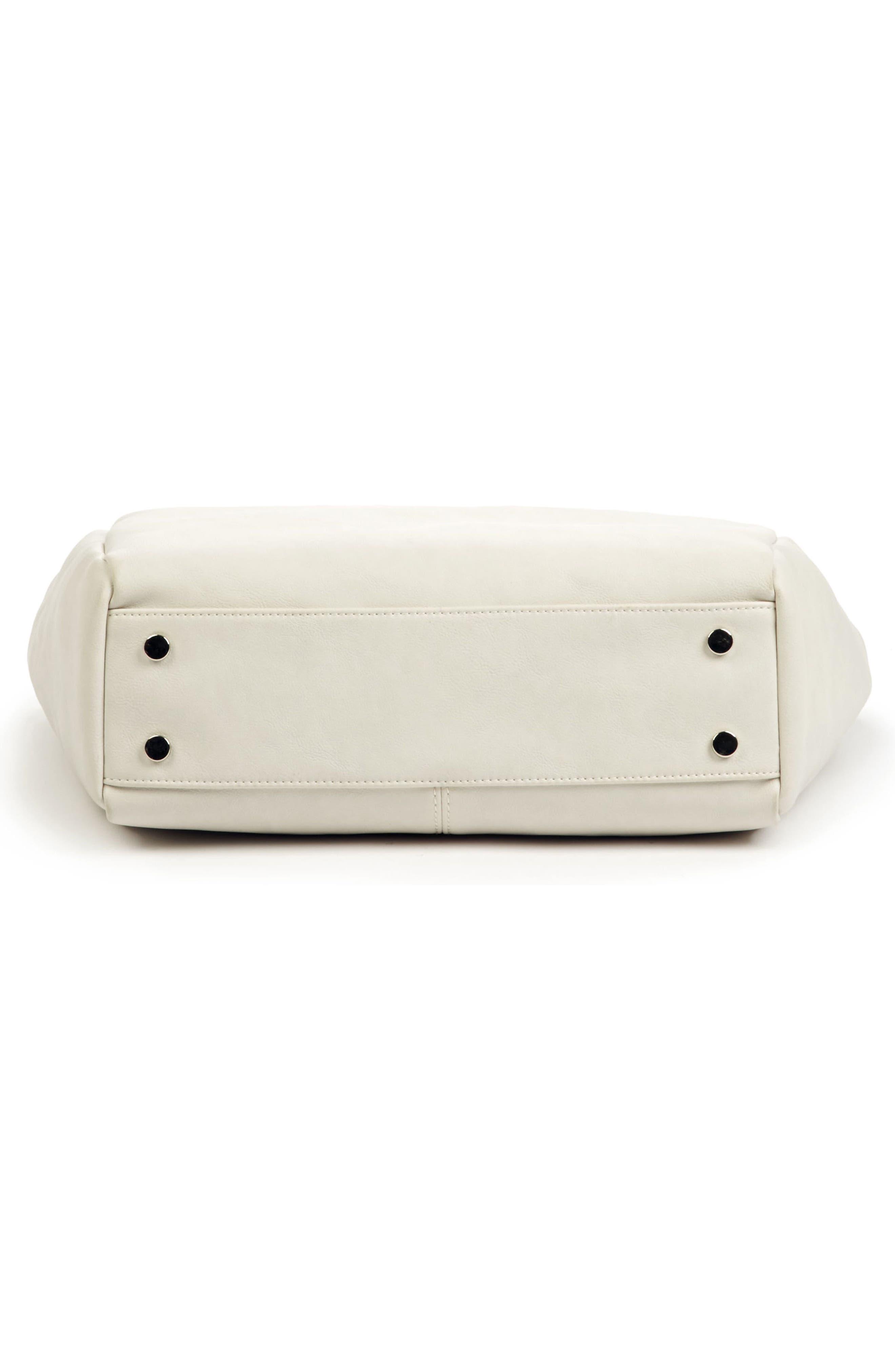 ,                             Top Handle Faux Leather Crossbody Bag,                             Alternate thumbnail 6, color,                             101