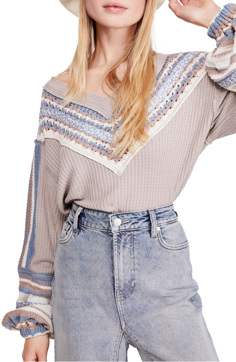 FREE PEOPLE Copenhagen Thermal Knit Top, Main, color, 030