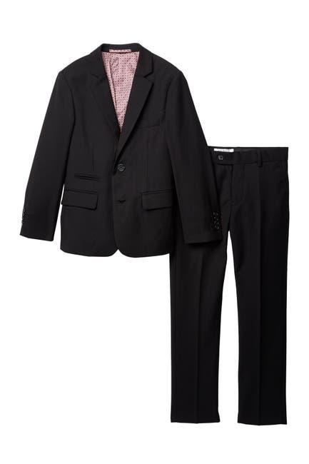 Image of Isaac Mizrahi Slim Fit Micro Gingham 2-Piece Suit