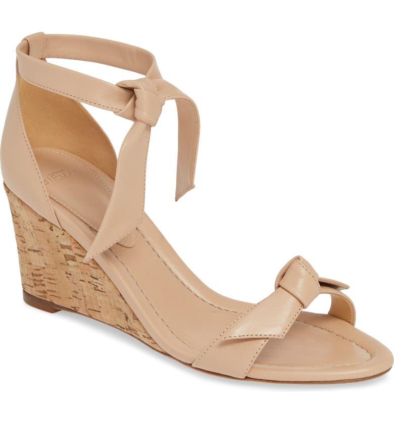 ALEXANDRE BIRMAN Clarita Cork Wedge Sandal, Main, color, LIGHT SAND