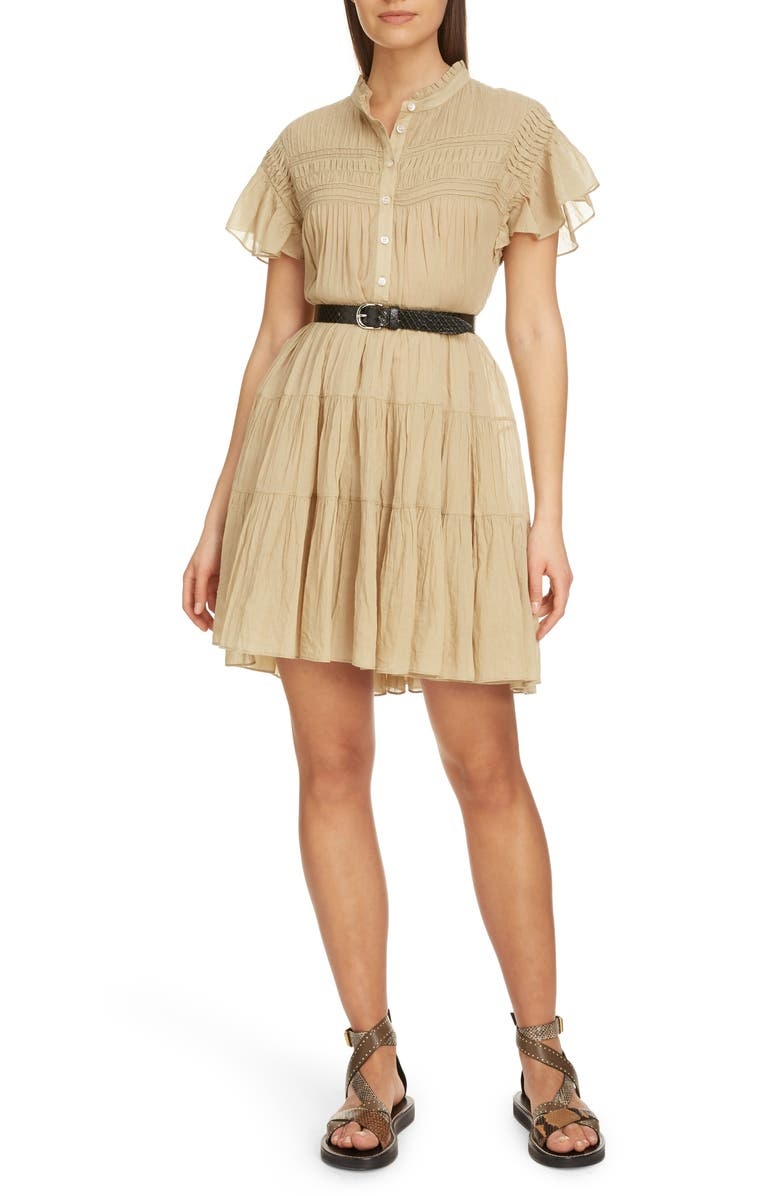 Isabel Marant Toile Lanikaye Ruffle Pleated Shirtdress