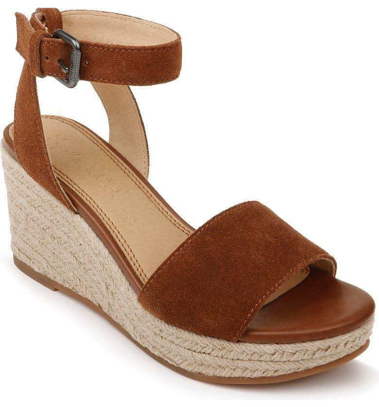 SPLENDID Arianna Espadrille Wedge Sandal, Main, color, WHISKEY SUEDE