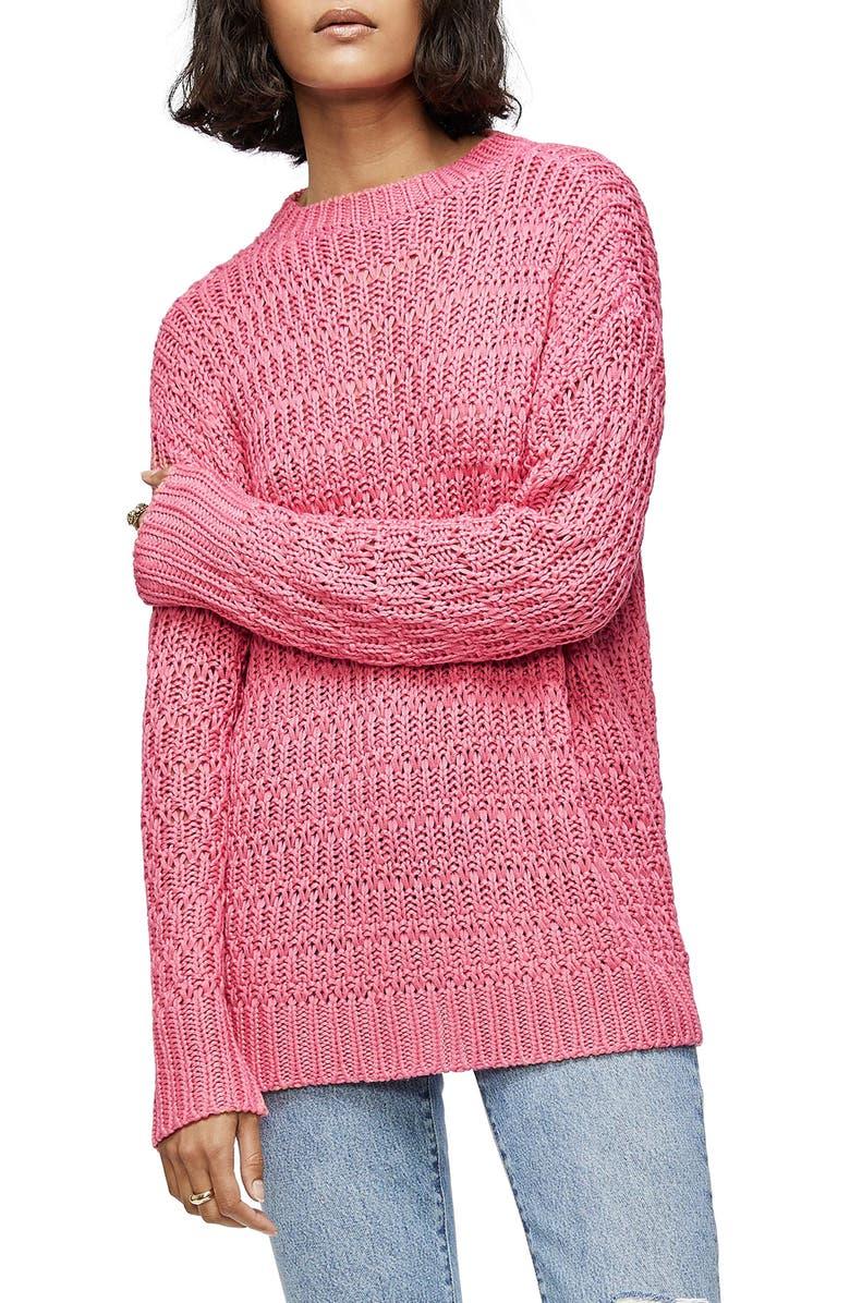 ANINE BING Juliette Sweater, Main, color, PINK