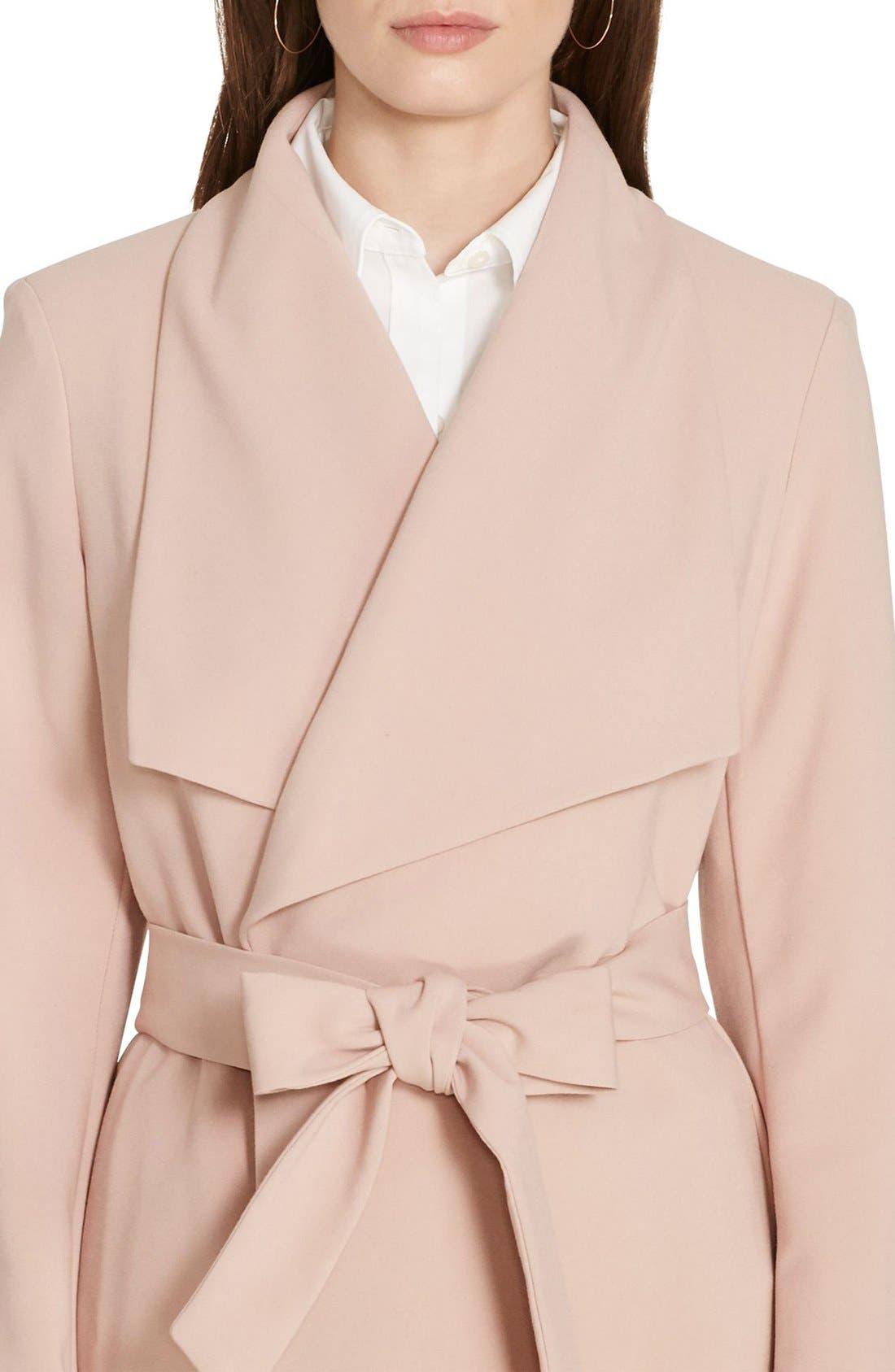 ,                             Belted Drape Front Coat,                             Alternate thumbnail 64, color,                             689